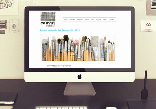 Canvas Studio Art Website